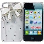 6 Bulk I Phone Case 3d Bow In White Clear