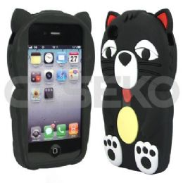 12 Bulk I Phone 4s Big Cat Black Protective Case