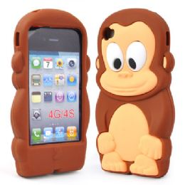 12 Bulk I Phone 4s Case Big Monkey In Brown