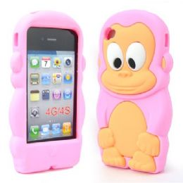 12 Bulk I Phone 4s Case Big Monkey In Pink