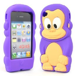 12 Bulk I Phone 4s Case Big Monkey In Purple