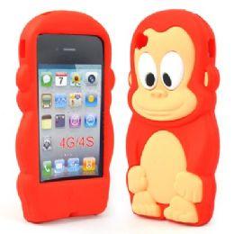 12 Bulk I Phone 4s Case Big Monkey In Red