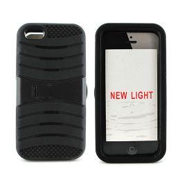 12 Bulk I Phone I5c Hybrid Case With Kick Stand /black