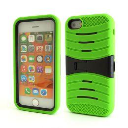 12 Bulk I Phone I5c Hybrid Case With Kick Stand /green