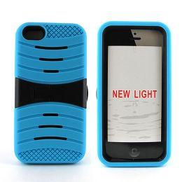 12 Bulk I Phone I5c Hybrid Case With Kick Stand /blue