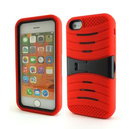 12 Bulk I Phone I5c Hybrid Case With Kick Stand /red
