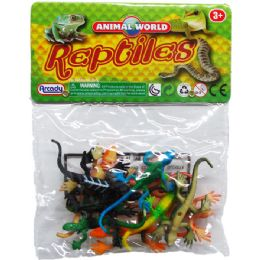 108 Bulk Plastic Lizards In Pvc Bag With Header