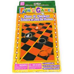 72 Bulk Chess & Checkers Portable Travel Set