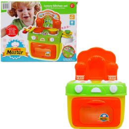 12 Bulk Kitchen Play Set With Light And Sound In Color Box