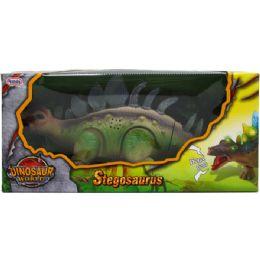 "12 Bulk 14"" B/o Dino. Stegosaurus In Window Box, 2 Assrt Clrs"