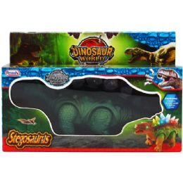 "24 Bulk 10"" B/o Dino. Stegosaurus In Pegable Window Box. 2 Assrt"