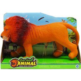 """36 Bulk 11"""" 6 Assrt Wild Toy Animals W/ Sound In Open Box"""