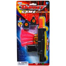 48 Bulk Soft Dart Toy Uzi With Targets In Blister Card