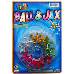 72 Bulk Jacks With Rubber Ball Play Set On Blister Card