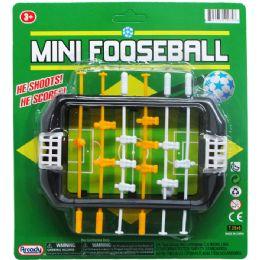 72 Bulk Mini Fooseball Play Set On Blister Card