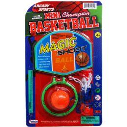 48 Bulk Table Mini Basketball Game Set On Blister Card