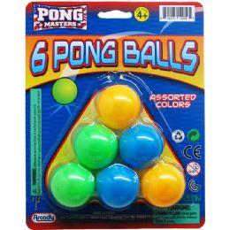 72 Bulk 6pc Ping Pong Ball Play Set On Blister Card