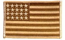 36 Bulk **as Is*** Brown Camo Us Flag With ***20 Stars Only