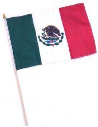 60 Bulk Mexico Stick Flags