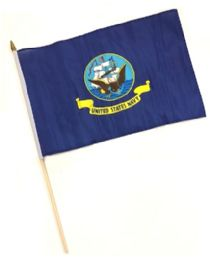 60 Bulk Hnf 18. Military Navy Stick Flags