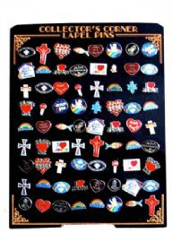 144 Bulk 72 Piece Hat Pins Unit, Assorted Religious Designs(styles May Vary)
