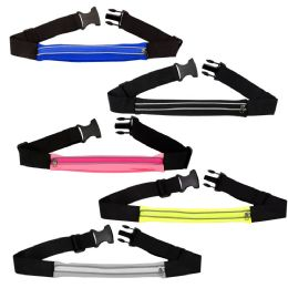 24 Bulk Pocket Exercise Fanny Pack Belt Bag In 5 Assorted Colors