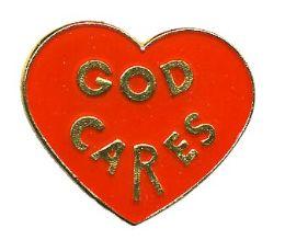 "96 Bulk Brass Hat Pin, ""god Cares"","