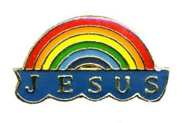 "96 Bulk Brass Hat Pin, ""jesus"" Rainbow"