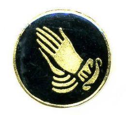 96 Bulk Brass Hat Pin, Praying Hands,