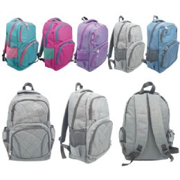 12 Bulk Backpack Assorted Color