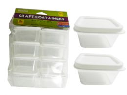 48 Bulk Craft Square Container 8 Pack