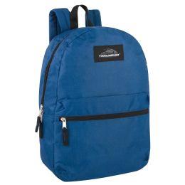 24 Bulk Trailmaker 17 Inch Backpack - Navy Blue