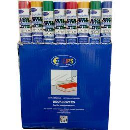 "48 Bulk Self Stick - Book Covers - Assorted Colors - 13.4"""