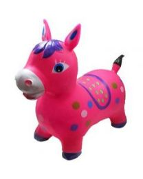 24 Bulk Inflatable Jumping Pink Horse Without Light And Sound