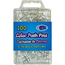 48 Bulk 100 Count Clear Push Pins