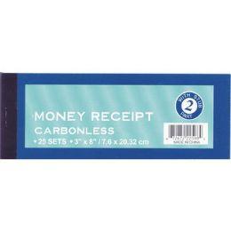 """72 Bulk Money Receipt Form - 3"""" X 8"""" - 25 Sets"""