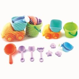 18 Bulk Ten Piece Sand Car Play Set