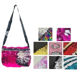 "72 Bulk 6.25""x9.75"" Reversible Sequin Waist Pack"