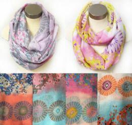 12 Bulk Wholesale Infinity Circle Floral MultI-Color Circular Design