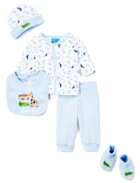 "24 Bulk Newborn Boy's ""jungle Friends"" Set - Animal Prints - Sizes 0-9m"