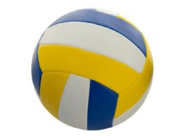 6 Bulk Size 5 Yellow & Blue Volleyball
