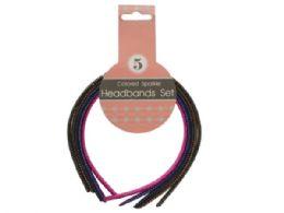 72 Bulk Colored Sparkle Headbands Set
