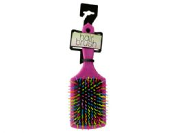 36 Bulk Rainbow Square Paddle Hair Brush