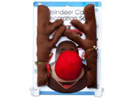 12 Bulk Reindeer Holiday Car Decoration Set