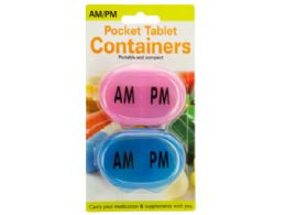 72 Bulk Am/pm Pocket Tablet Containers Set