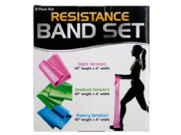 12 Bulk Resistance Band Set With 3 Tension Levels