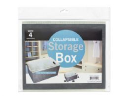 12 Bulk Collapsible Storage Box With 4 Compartments