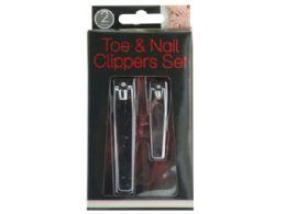 36 Bulk Toe & Nail Clippers Set