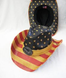 44546393c5fed Wholesale American Flag Cowboy Hat - at - bluestarempire.com