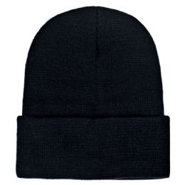 36 Bulk Yacht & Smith Unisex Winter Warm Beanie Hats In Solid Black